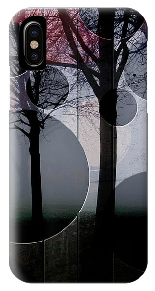 Trees And Circles IPhone Case