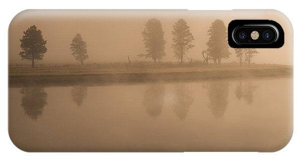 IPhone Case featuring the photograph Trees And Fog by Gary Lengyel