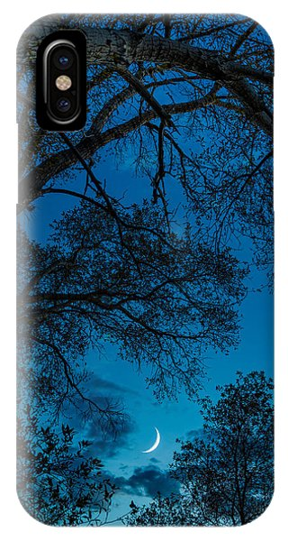 Trees And Moon IPhone Case