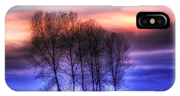 Trees And Twilight IPhone Case