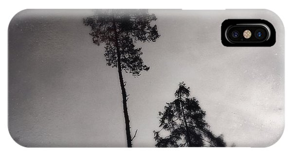 Tree iPhone Case - Trees Black And White Wetplate by Matthias Hauser