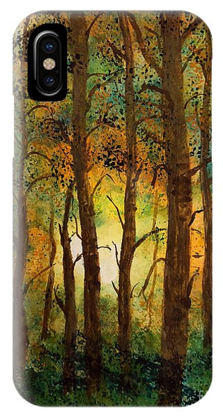 IPhone Case featuring the painting Trees by Donald Paczynski