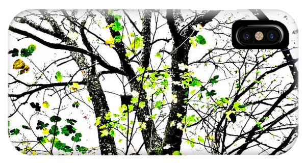 Trees Growing In Silo Abstract- Large Landscape Edition IPhone Case