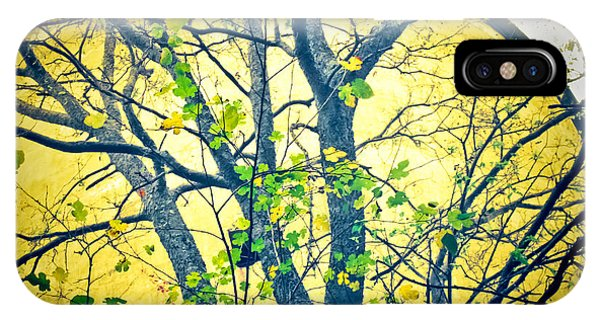 Trees Growing In Silo  - Large Yellow Edition IPhone Case