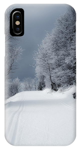 Trees Hills And Snow IPhone Case