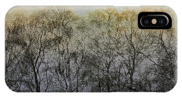 IPhone Case featuring the photograph Trees Illuminated By Faint Sunshine, Double Exposed Image by Nick Biemans