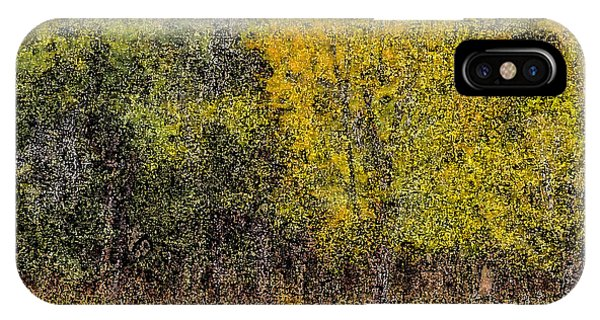 Trees In Fall With Texture IPhone Case