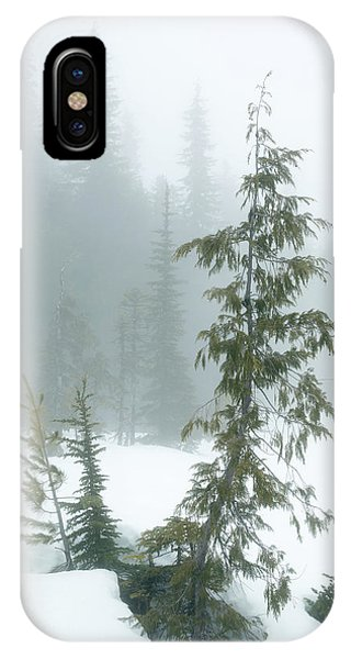 IPhone Case featuring the photograph Trees In Fog by Tim Newton