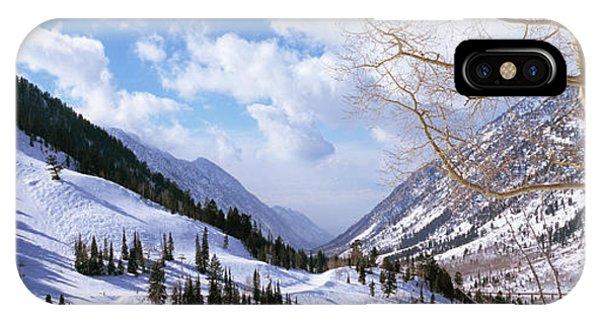 Trees In Snow, Snowbird Ski Resort IPhone Case