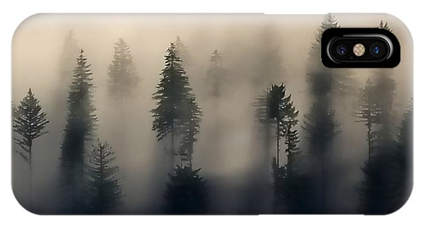 Trees In The Fog IPhone Case