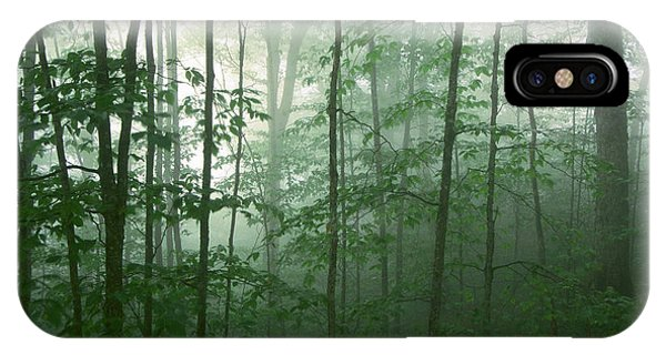 IPhone Case featuring the photograph Trees In The Mist by Joye Ardyn Durham
