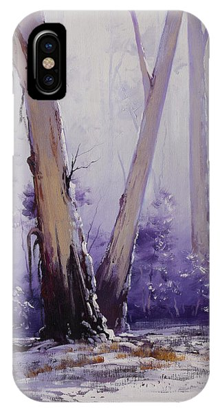 Cold iPhone Case - trees in winter Australia by Graham Gercken