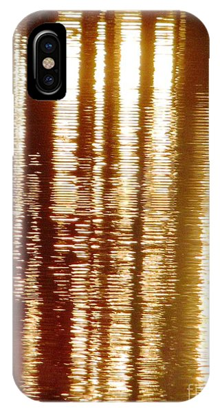 Trees On Rippled Water IPhone Case