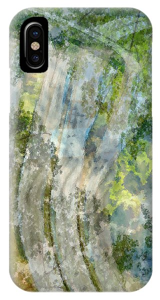 Trees Over Highway IPhone Case