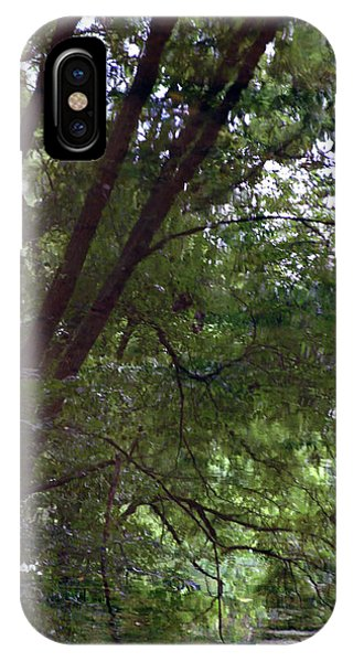 Trees Reflected In A Woodland Stream 2867 H_2 IPhone Case