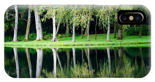 Trees Reflected In Water IPhone Case