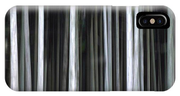 Treeline iPhone Case - Trees Trunks by Bernard Jaubert