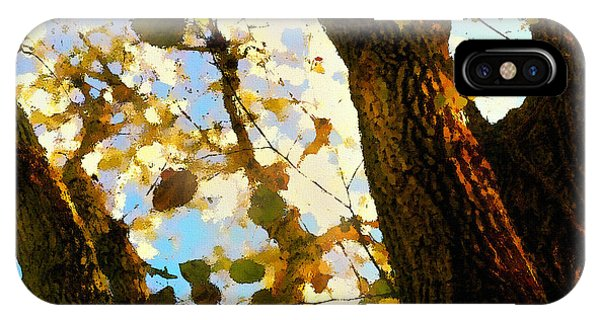 Treetop Abstract-look Up A Tree IPhone Case