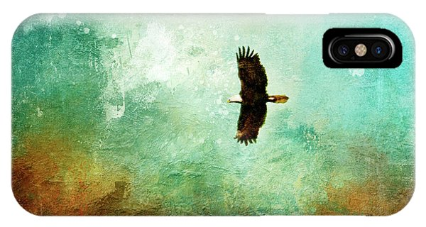 Treetop Eagle Flight IPhone Case