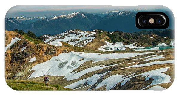 Trekking Ptarmigan Ridge IPhone Case
