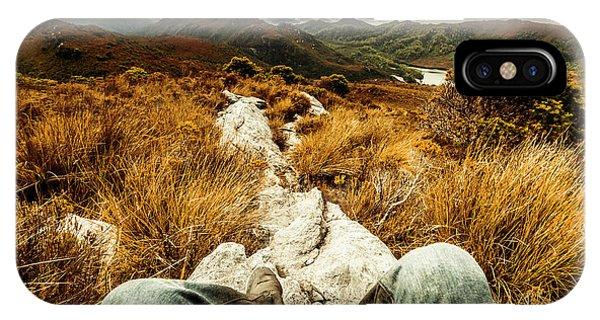 Explorer iPhone Case - Trekking Tasmanian Mountains by Jorgo Photography - Wall Art Gallery