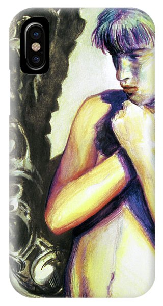 IPhone Case featuring the painting Trembling Flower by Rene Capone