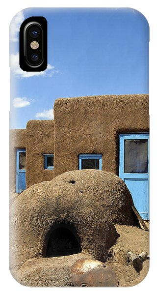 Tres Casitas Taos Pueblo IPhone Case