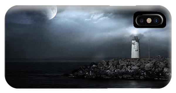 Lighthouse Wall Decor iPhone Case - Tres Deseos by Zapista Zapista
