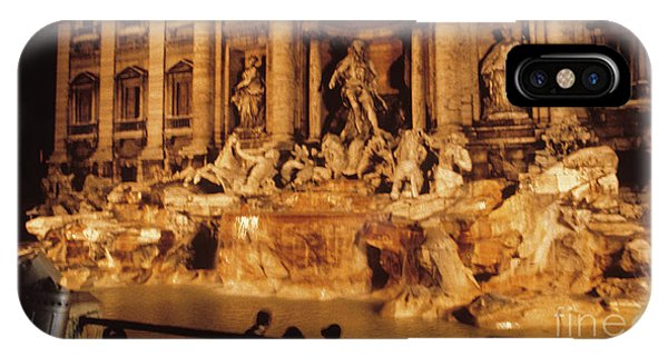 IPhone Case featuring the photograph Trevi At Night by Donald Paczynski