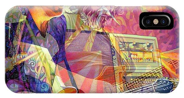 Guitar Legends iPhone Case - Trey Channeling Cosmic Jerry by Joshua Morton