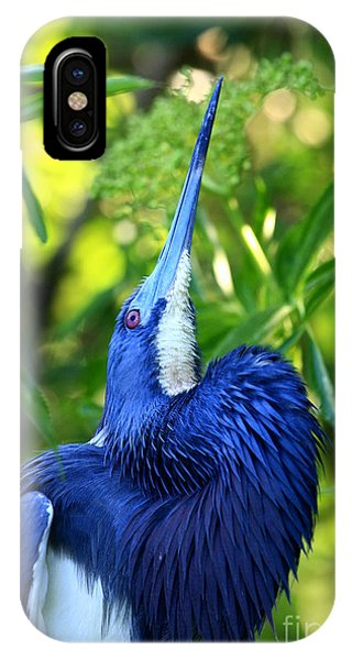 Tri-colored Heron Head Throw IPhone Case