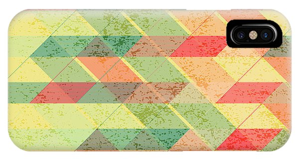 Autumn iPhone Case - Triangles Pattern by Gaspar Avila
