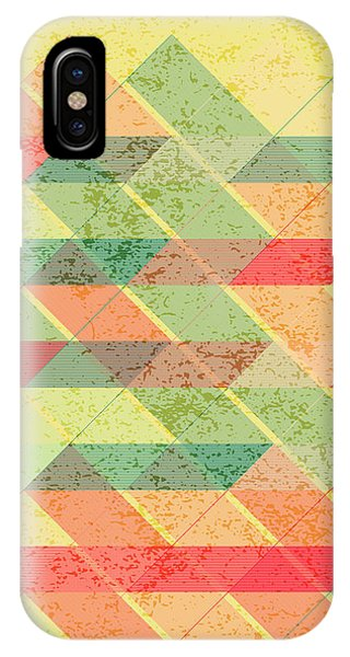 Autumn iPhone X Case - Triangles Pattern by Gaspar Avila