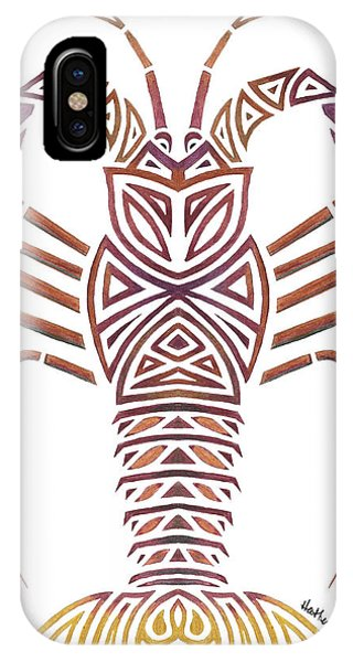 Tribal Caribbean Lobster IPhone Case