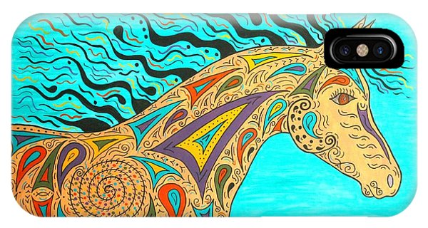 Tribal Carnival Spirit Horse IPhone Case