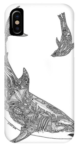 Tribal Great White And Sea Lion IPhone Case