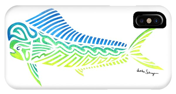 Tribal Mahi Mahi IPhone Case