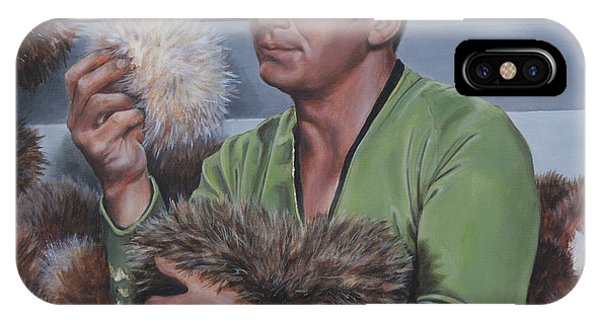 IPhone Case featuring the painting Tribble Trouble by Kim Lockman
