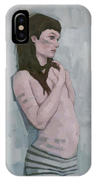 IPhone Case featuring the painting Tribe by Steve Mitchell