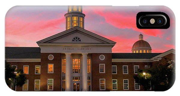 IPhone Case featuring the photograph Trible Library Pastel Sunset by Ola Allen