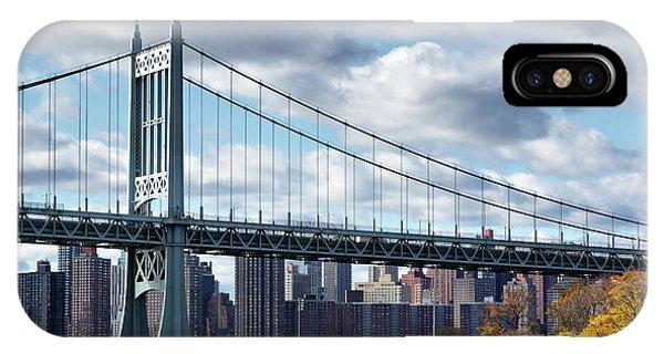 Triboro Bridge In Autumn IPhone Case