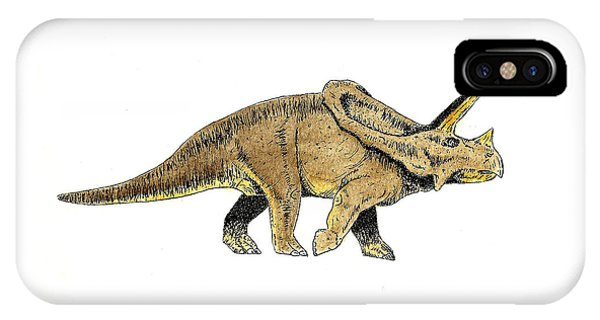 Dinosaur iPhone Case - Triceratops by Michael Vigliotti
