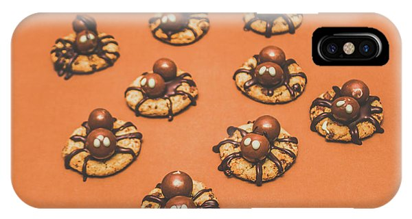 Trick Or Treat Halloween Spider Biscuits IPhone Case