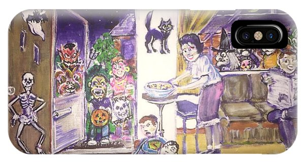 Trick Or Treat On Exeter Street IPhone Case