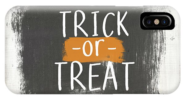 Or iPhone Case - Trick Or Treat Sign- Art By Linda Woods by Linda Woods
