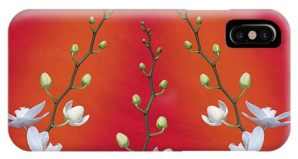 Orchid iPhone Case - Trifecta Of Orchids by Tom Mc Nemar