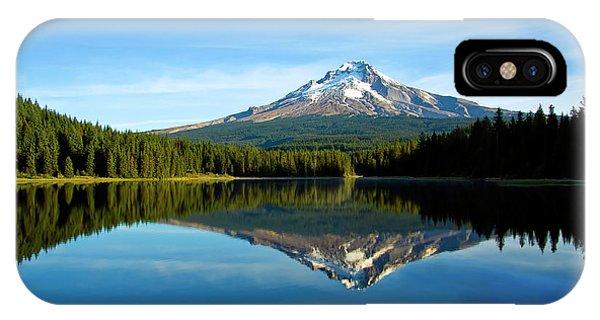 Trillium Lake Mt Hood Fall IPhone Case