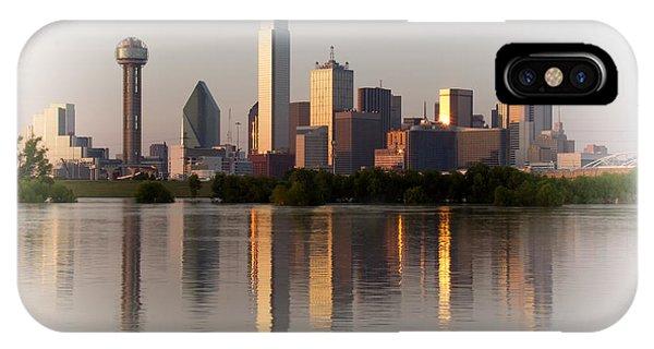 Trinity River Dallas 4 IPhone Case