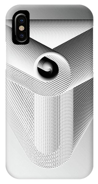 IPhone Case featuring the digital art Trinity White by Susan Maxwell Schmidt