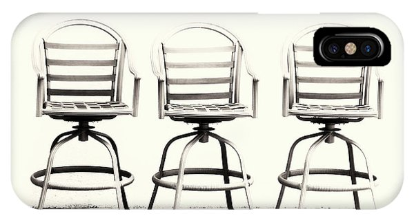 Trio Seating Devoid Of Color IPhone Case